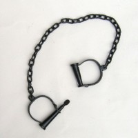 Iron Locking Hand / Leg Cuffs With Chain